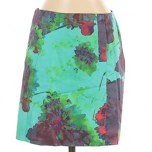 J. Crew Hothouse Floral/Watercolor Skirt NEW sz 0